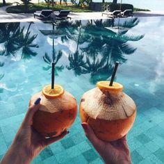 Imagen de summer, beach, and coconut