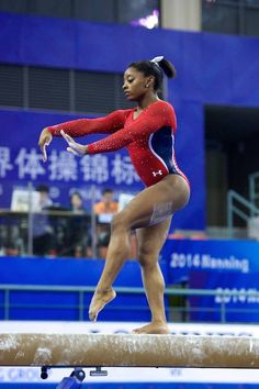 (Simone Biles (USA) Podium Training for the Amazing Gymnastics, Gymnastics Pictures, Artistic Gymnastics, Fab Five, Simone Biles, Usa Olympics, Gabby Douglas, Olympic Team, World Of Sports