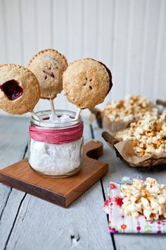 Mini Berry Pies on a Stick and Kettle Corn