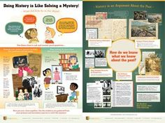 Frugal-Freebies.com: Bright illustrations and snappy captions present history as a mystery for elementary students, while the flip side asks middle and high schoolers how historians know what they know about the past...