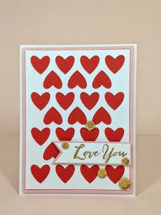 Close To My Heart Artfully Sent Heart Patterned Valentine card.