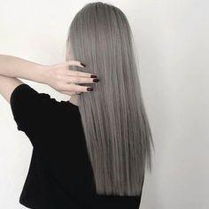 grafika hair, grey, and black