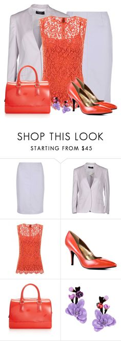 """Lilac & Lava"" by callmeadie ❤ liked on Polyvore featuring Dorothy Perkins, Paul Smith, Dolce&Gabbana, GUESS, Furla and La Hormiga"