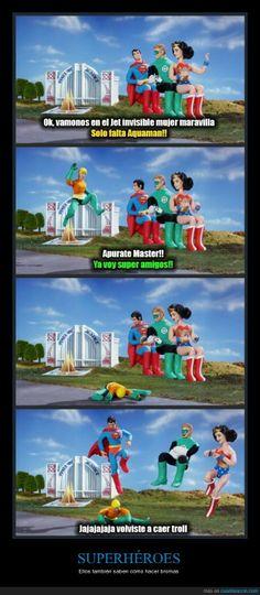 Pobre Aquaman, siempre se burlan de él - Ellos también saben cómo hacer bromas