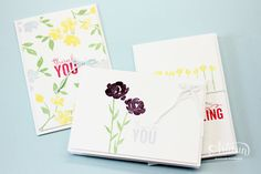 The Painted Petals stamp set is great for simple, quick, and easy cards! -Kaitlyn Zumbach
