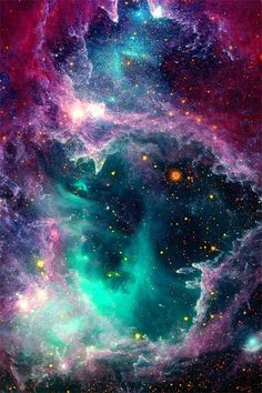 Outer space, almost unreal.