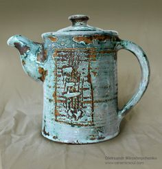Ceramic tea pot by Oleksandr Miroshnychenko.