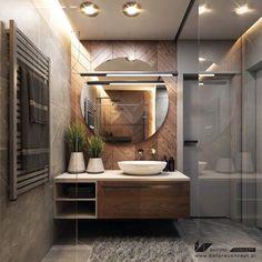 Bathroom Design Luxury, Modern Bathroom Decor, Modern Bathroom Design, Small Bathroom, Home Room Design, Home Interior Design, Bathroom Design Inspiration, Interior Inspiration, Design Ideas