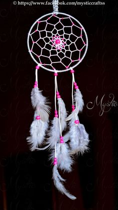 11 DIY White and Pink Dream catcher