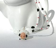 Sheep Pendant Necklace by KatieBugCreations4U on Etsy