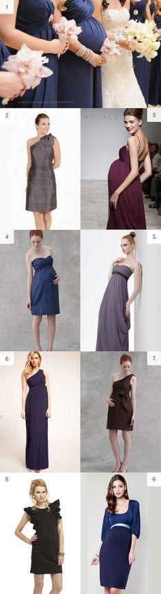 Fashionable maternity dresses for pregnant bridesmaids — #dress #bridesmaid