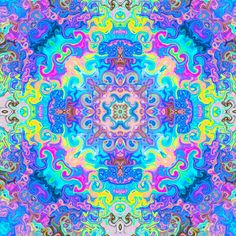 Lsd Art, Tie Dye Rainbow, Visionary Art, Psychedelic Art, Neon Colors, Mandala Art, Trippy, Mushroom, Mystic