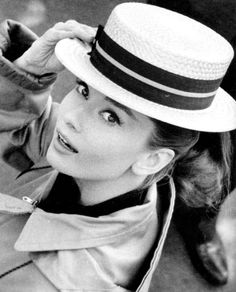 Audrey Hepburn In Boater Hat