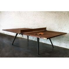 Ping Pong Table wood and leather