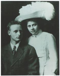 Founder of Dewar's Candy Shop - James H Dewar and wife Lena's wedding Picture - 1910 #dewarscandyshop