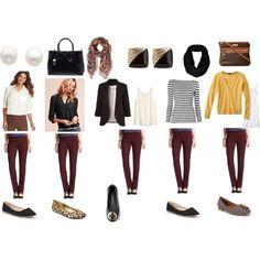 ❤️ burgundy jeans