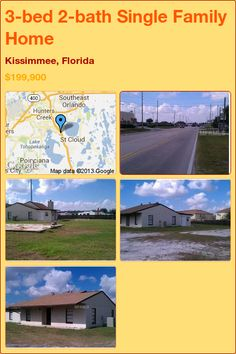 3-bed 2-bath Single Family Home in Kissimmee, Florida ►$199,900 #PropertyForSale #RealEstate #Florida http://florida-magic.com/properties/7779-single-family-home-for-sale-in-kissimmee-florida-with-3-bedroom-2-bathroom