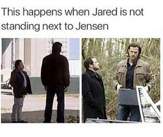 Image shared by Léa. Find images and videos about supernatural, Jensen Ackles and jared padalecki on We Heart It - the app to get lost in what you love. Destiel, Supernatural Fans, Supernatural Fanfiction, Jared Padalecki, Misha Collins, Jensen Ackles, Spn Memes, Winchester Boys, Supernatural Memes