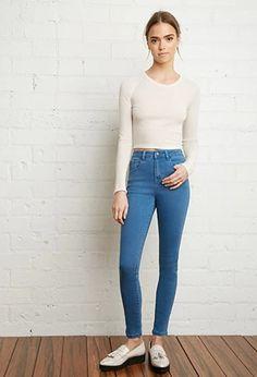 High-Waisted Skinny Jeans | Forever 21 #forever21denim