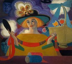 Reverie, 1921, by Cecile Walton (Scottish 1891-1956) Perth & Kinross Council collections