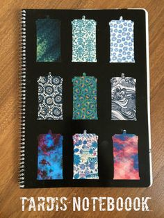 DIY TARDIS notebook cover #doctorwho