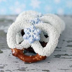 Winter Pretzels, so pretty.