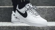 The Nike Air Force 1 Low Statement Game White Black edition is featured in a lifestyle look and it's dropping on Oct. Nike Air Force Ones, Air Force One Shoes, Sneakers Mode, Girls Sneakers, Air Max Sneakers, Shoes Sneakers, Af1 Shoes, Superga Sneakers, Shoes Heels
