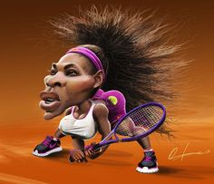 Serena Williams - Caricaturas de Onofre Alarcón