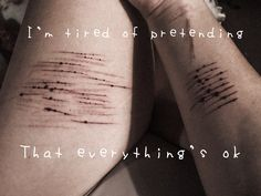 """""""I'm tired of everything"""" depression/self harm photo/quote picture"""