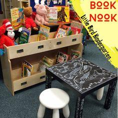 Little Bird Kindergarten: A Classroom book nook! Book Activities, Teaching Resources, Primary Resources, Teaching Ideas, Kindergarten Books, Preschool Classroom, What Is Care, Classroom Setting, Classroom Layout