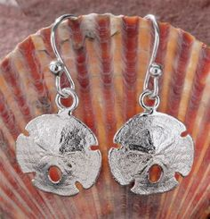 Sterling Silver Sand Dollar Earrings | Bass Pro Shops    I LOVE THESE