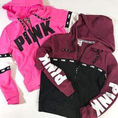 New Ideas For Fashion Editorial Sport Victoria Secret Pink Outfits, Sport Outfits, Cute Outfits, Vs Pink Outfit, Maroon Jacket, Pink Jacket, Victoria Secret Outfits, Victoria Secret Pink, Pink Fashion