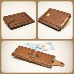 Slim Leather Wallet, Leather Crafts, Kydex, Book Binding, Leather Design, Leather Working, Wallets, Photo And Video, Sewing