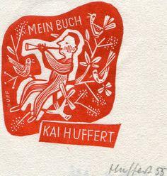 Hermann Huffert Ex Libris, Poppy Images, Tiny Prints, Ink Stamps, Letterpress, Graphic Illustration, Printmaking, Illustrators, Screen Printing
