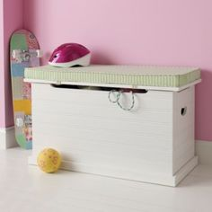 Beat Our Chest Toy Chest (White)  | Crate and Barrel