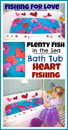 fishing for love ....or the alphabet.  Use a magnet on the fishing pole, paper clips on the fish, and tack on the letters you want the students to learn to recognize.  Have the students pull letters from flashcards and then hunt for the fish with that letter, then catch it.
