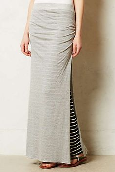 Stripe Split Maxi Skirt