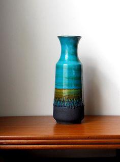 Fat Lava Vase 12 West German Pottery Ceramic by MidCenturyFLA