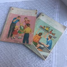 Vintage Dick and Jane Books / Paperback Books Fun Wherever We Are and Fun With the Family 1965 by vintagepoetic on Etsy