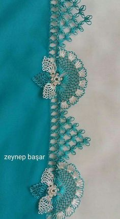 This Pin was discovered by Zey Zig Zag Crochet, Filet Crochet, Bead Crochet, Crochet Lace, Crochet Stitches, Embroidery Stitches, Embroidery Designs, Crochet Necklace, Crochet Patterns
