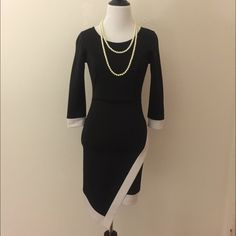 Colorblock Dress Colorblock Dress. Bodycon. Back Zip. Length is    34 inches. Dresses