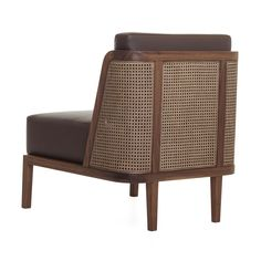 OMG.OMG.OMG.OMG. Want.So.Much. Throne Lounge Chair with Rattan - Walnut