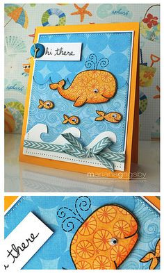 Lawn Fawn Critters In the Sea card by Mariana Grigsby.