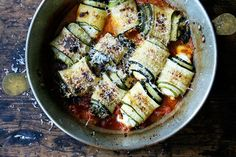 Zucchini Involtini with Swiss Chard & Ricotta recipe on Food52