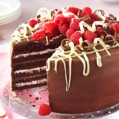 Very Chocolate Torte with Raspberry Cream