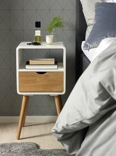 Retromodernt sängbord Doriano. Em home