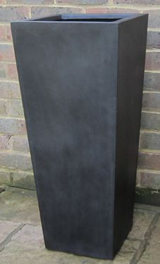 Polystone And Stone Fibre Pots, Planters And Troughs, Black, White Or Grey,