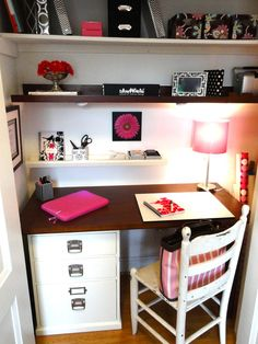 Desk In Closet Design, Pictures, Remodel, Decor and Ideas - page 4