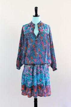 70s India Cotton Gauze Paisley Boho Hippie by LuvStonedVintage, $186.00