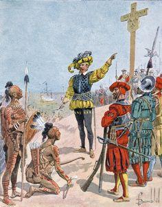 Jacques Cartier prend possession de la baie de Gaspé